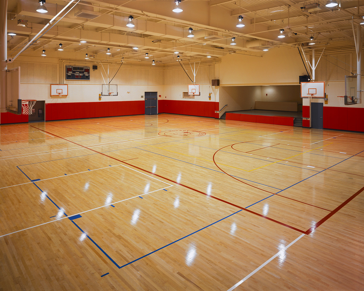 Basketball floors fitness flooring for How much to make a basketball court